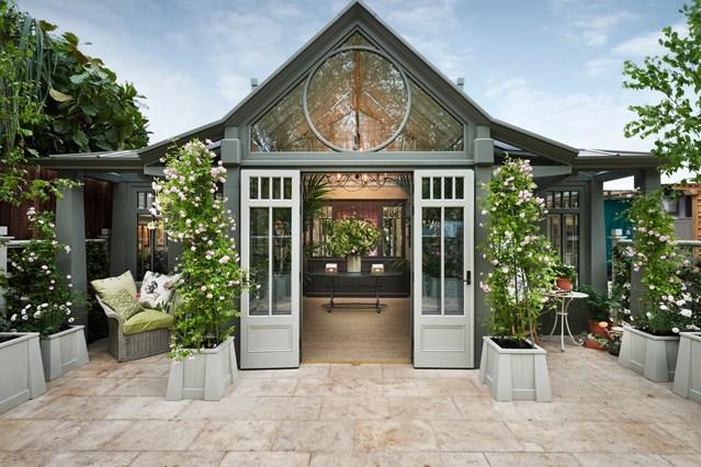 зимна градина конструкция изглед от вън
