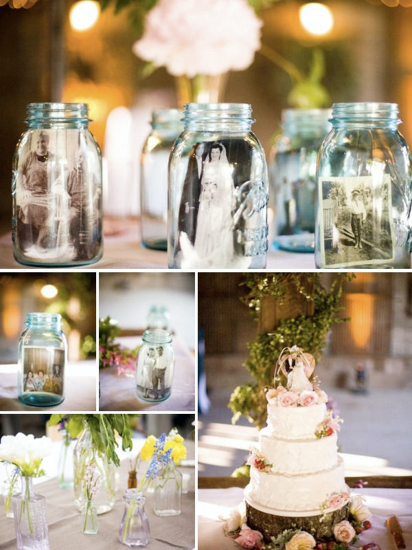 идеи за винтидж сватба декорация маса