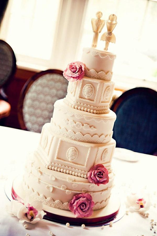 идеи за винтидж сватба сватбена торта