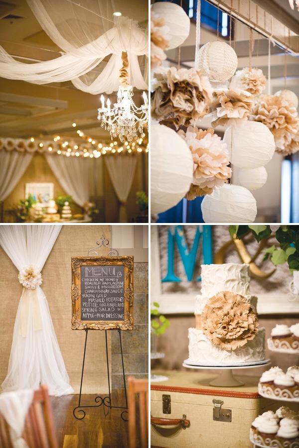 идеи за винтидж сватба декорация бяло
