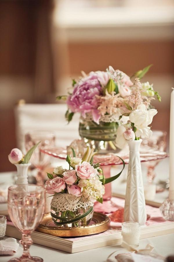 идеи винтидж сватба декорация маса