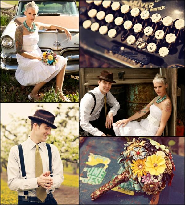 идеи за винтидж сватба младоженци