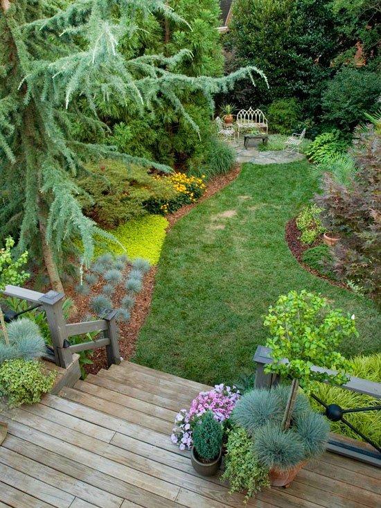 идеи за градината двор саксии райграс