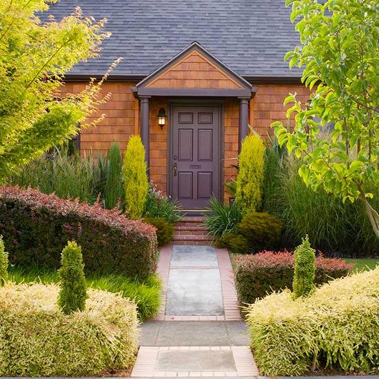 идеи за градината двор храсти дървета