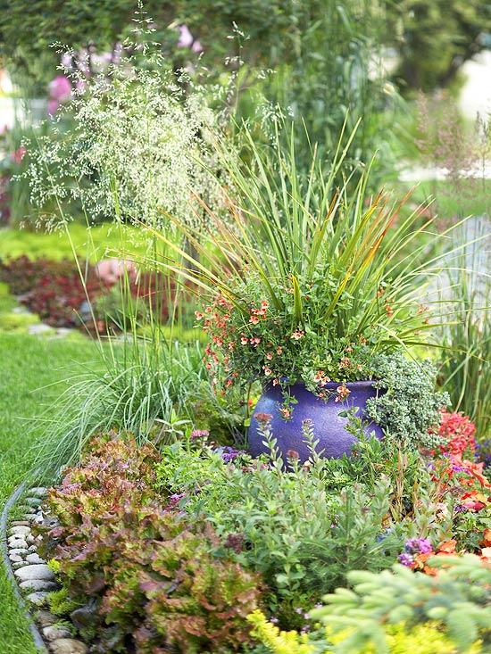идеи за градината саксии цветя растения двор