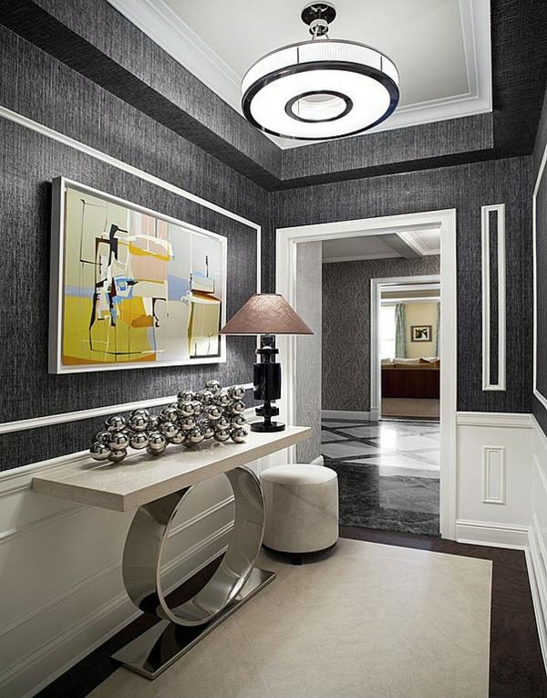 идеи дизайн коридор в сиво и модерно обзавеждане