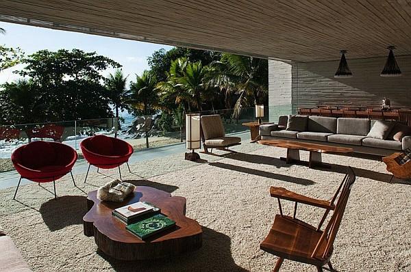 идеи за дизайн тераса мебели дърво