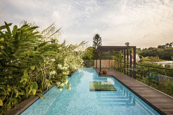 идеи за дизайн тераса басейн