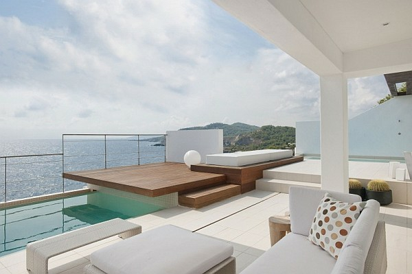 идеи за дизайн на тераса бял интериор