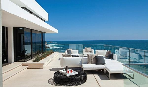 идеи за дизайн тераса мебели бяло