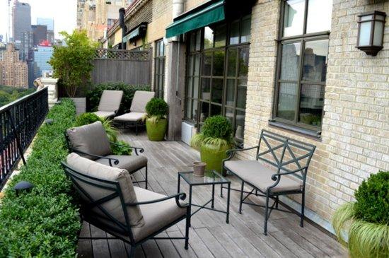 идеи за малка тераса мебели ковано желязо