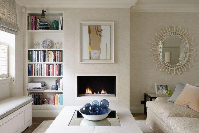 идеи за малък хол бял интериор модерен дизайн