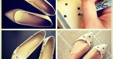 идеи-за-обувки-направи-си-сам-бяло-точки