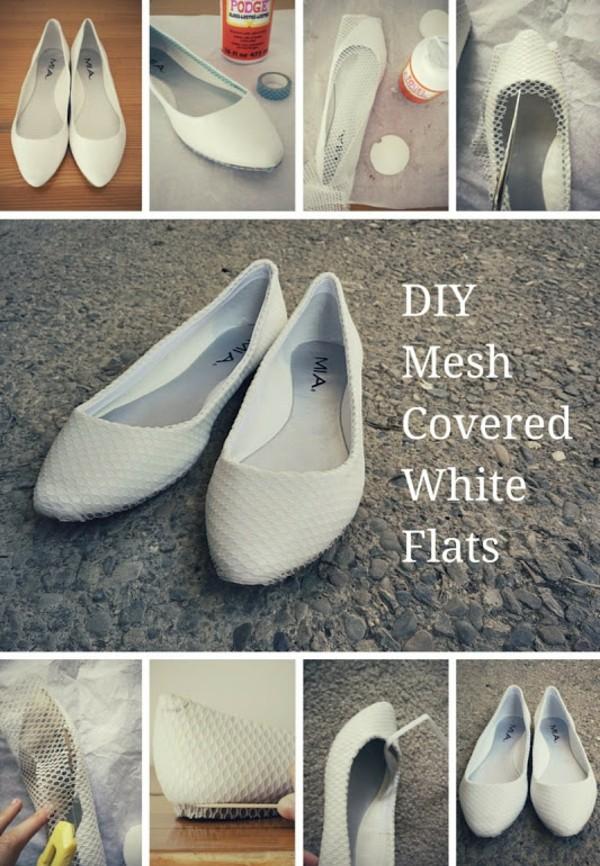 идеи за обувки направи си сам декорация дантела