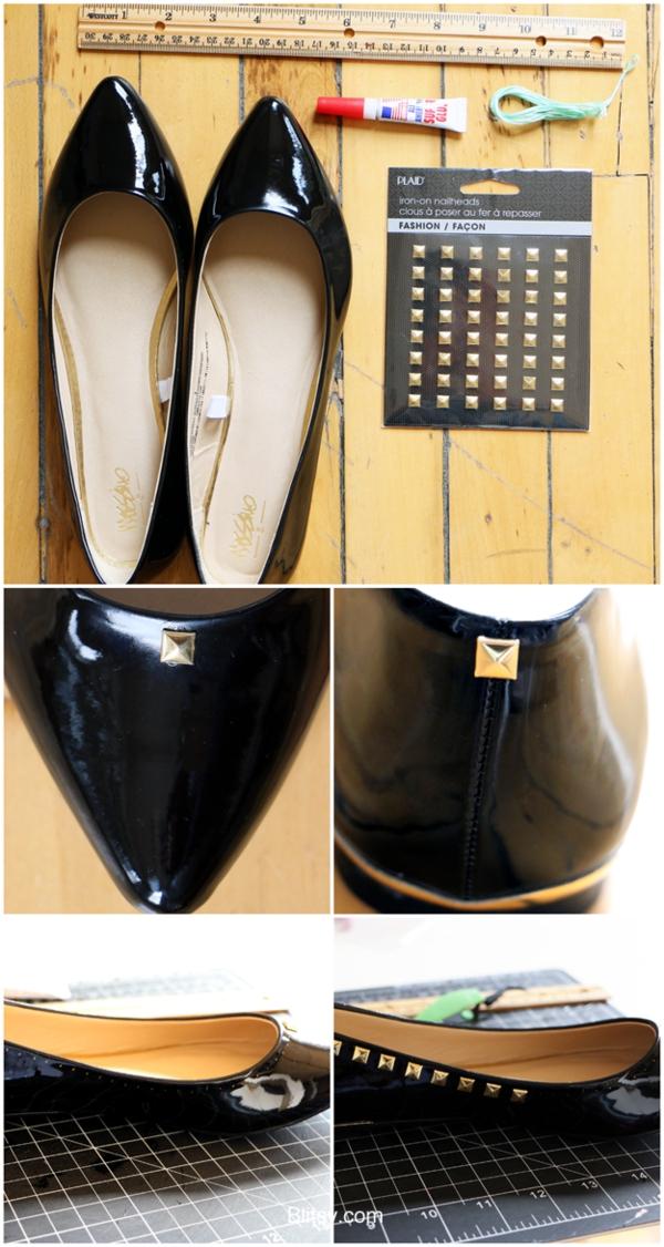 идеи обувки направи си сам капси черни златисто