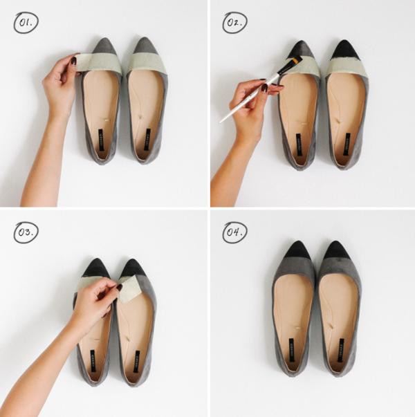 идеи обувки направи си сам сиво черно