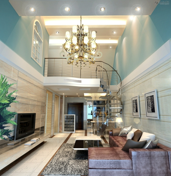 идеи за тавани висок полилей мебели в бежово