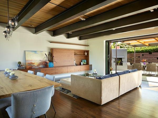 идеи тавани дървени дизайн мебели бяло интериор