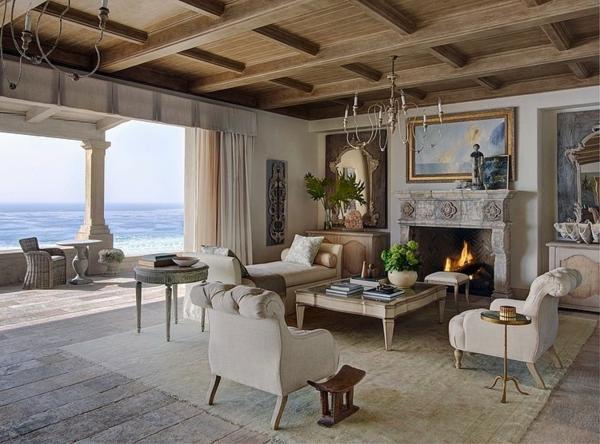 идеи-за-тавани-мебели-в-бяло-камина-дърво