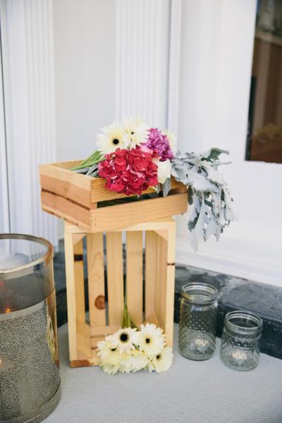 идея бебешко парти декорация цветя свещници