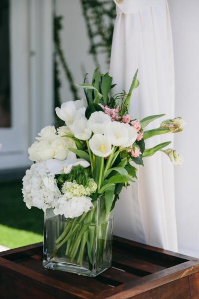 идея бебешко парти ваза цветя букет