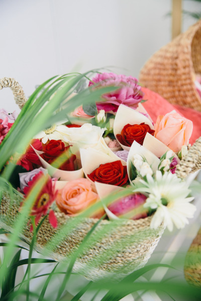 идея бебешко парти цветя