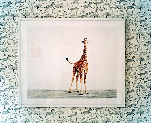 идея за детска стая новородено картина жираф