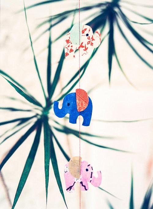 идея за детска стая новородено декорация слон