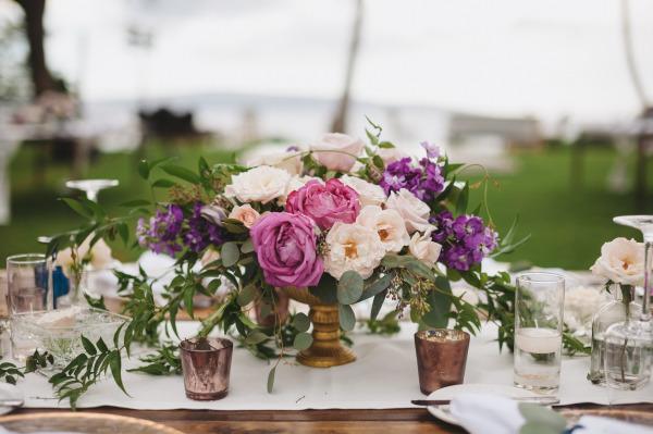 идея рустик сватба край морският бряг декорация маса