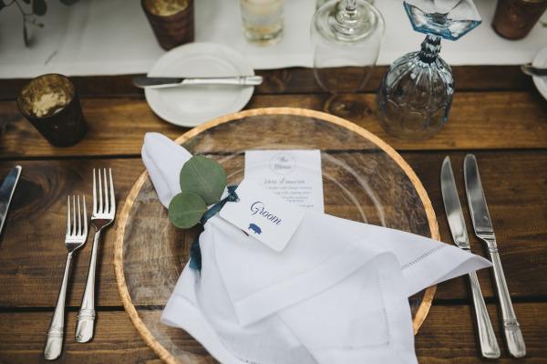 идея рустик сватба край морският бряг декорация чиния