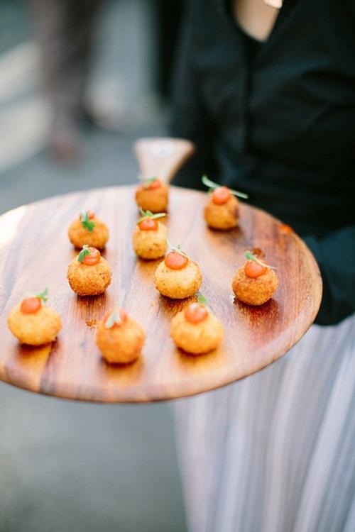 идея за сватба храна хапки