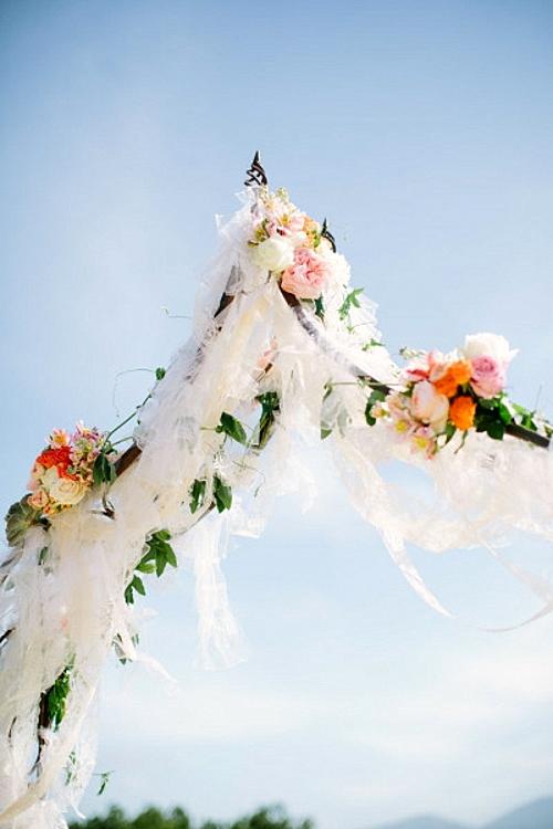 идея за сватба арка декор украса