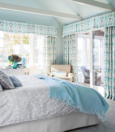 интериорен дизайн в синьо идеи декорация спалня