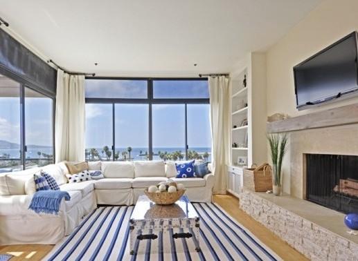интериорен дизайн в синьо килим обзавеждане идеи