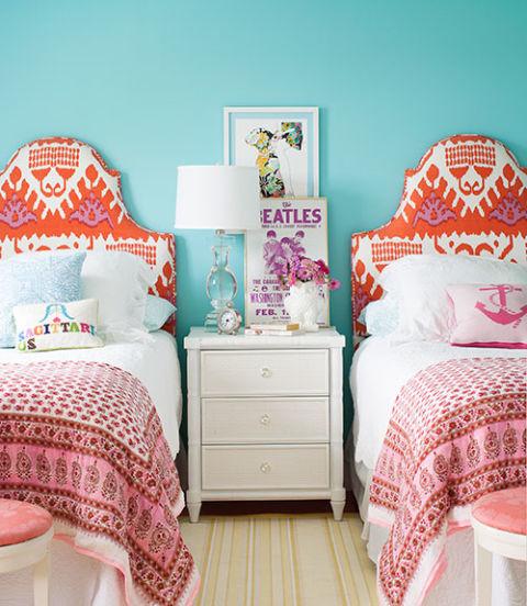 интериорен дизайн в синьо стая мебели идеи