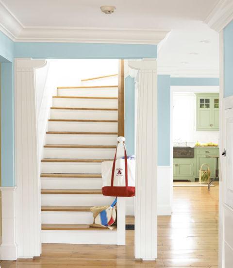 интериорен дизайн в синьо стени идеи