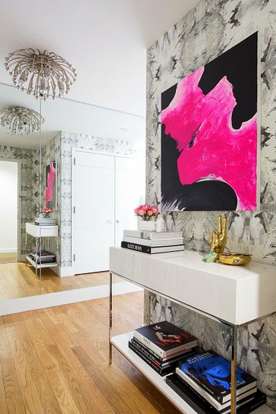 интериорен дизайн коридор модерен стил арт декор