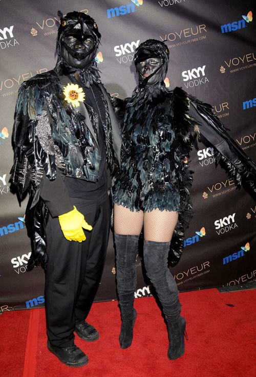костюми за хелоуин хайди клум гарван