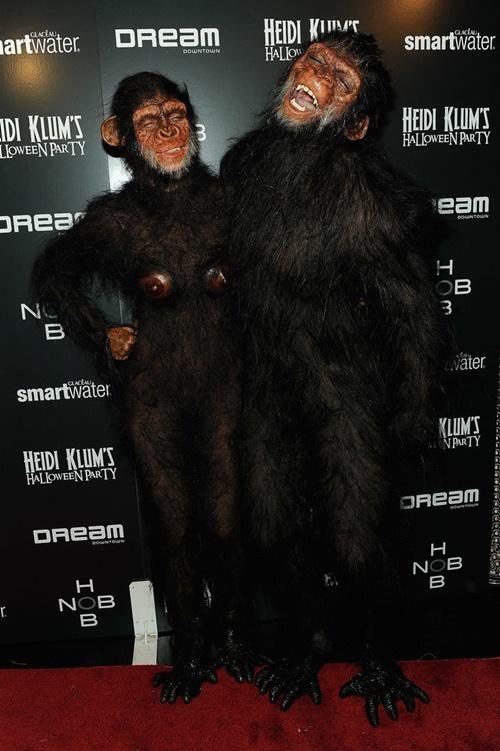 helouin kostumi na haidi klum maimuna