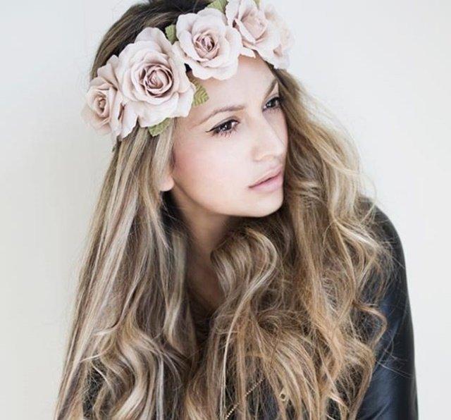 лента за коса цветя