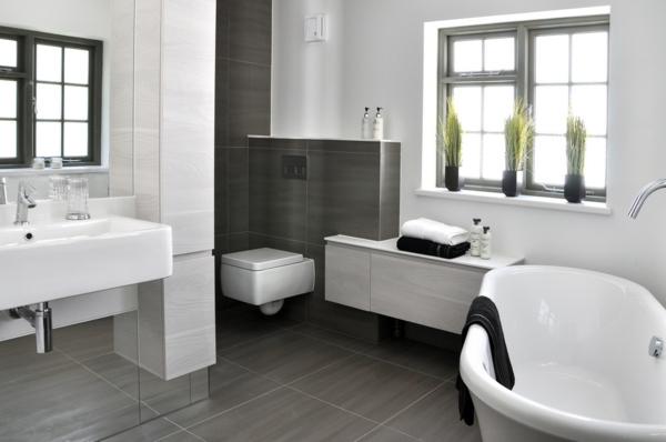 малка баня идеи интериорен дизайн в бяло сиво