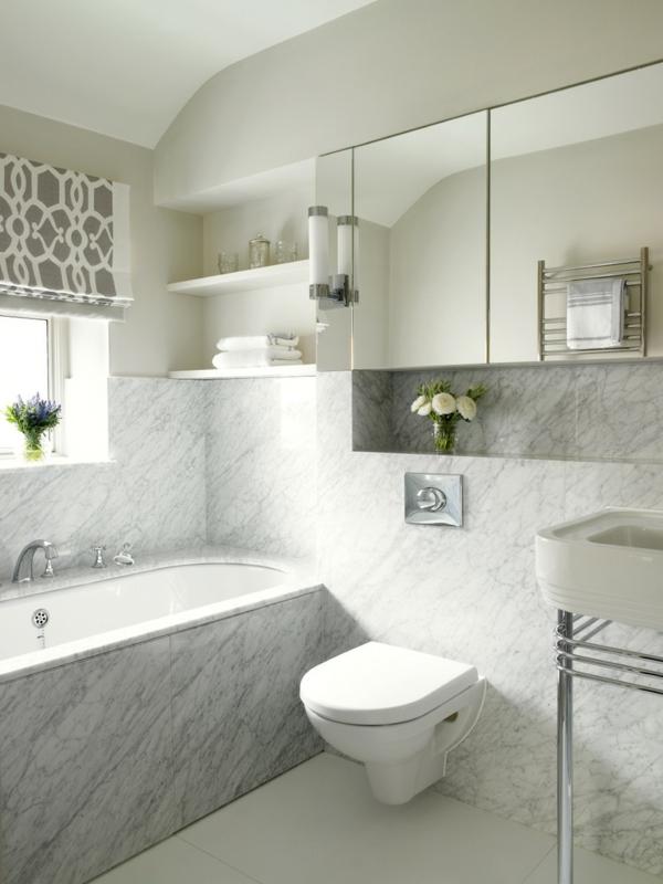 малка-баня-идеи-мраморна-вана-бяло-сиво