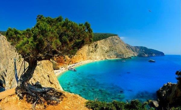 места в гърция лефкада плаж порто кацики море