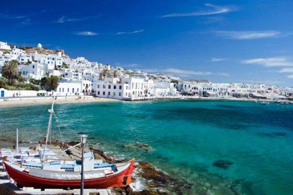 места в гърция миконос плаж море пътуване