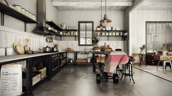 модерен-рустик-интериорен-дизайн-кухня