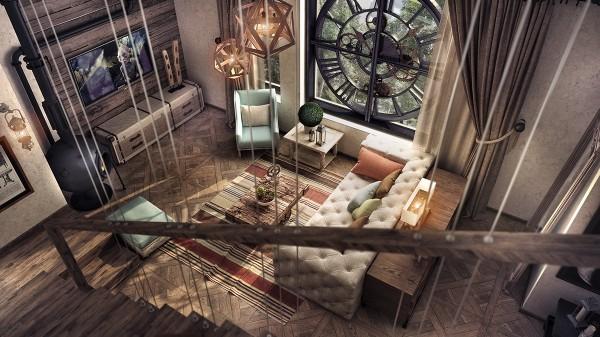 модерен-рустик-интериорен-дизайн--хол