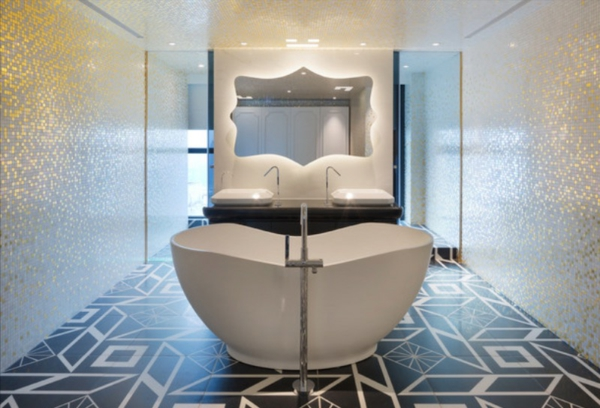модерн вани баня бяло бежово
