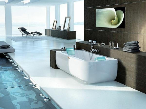 модерни вани баня бяло кафяво