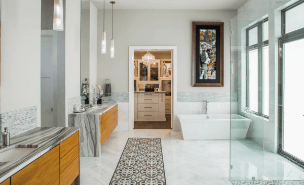 модерни-вани-баня--бяло-сиво