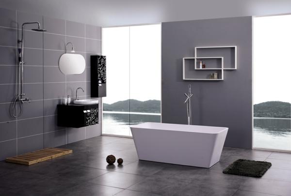 модерни-вани -баня-сиво-бяло